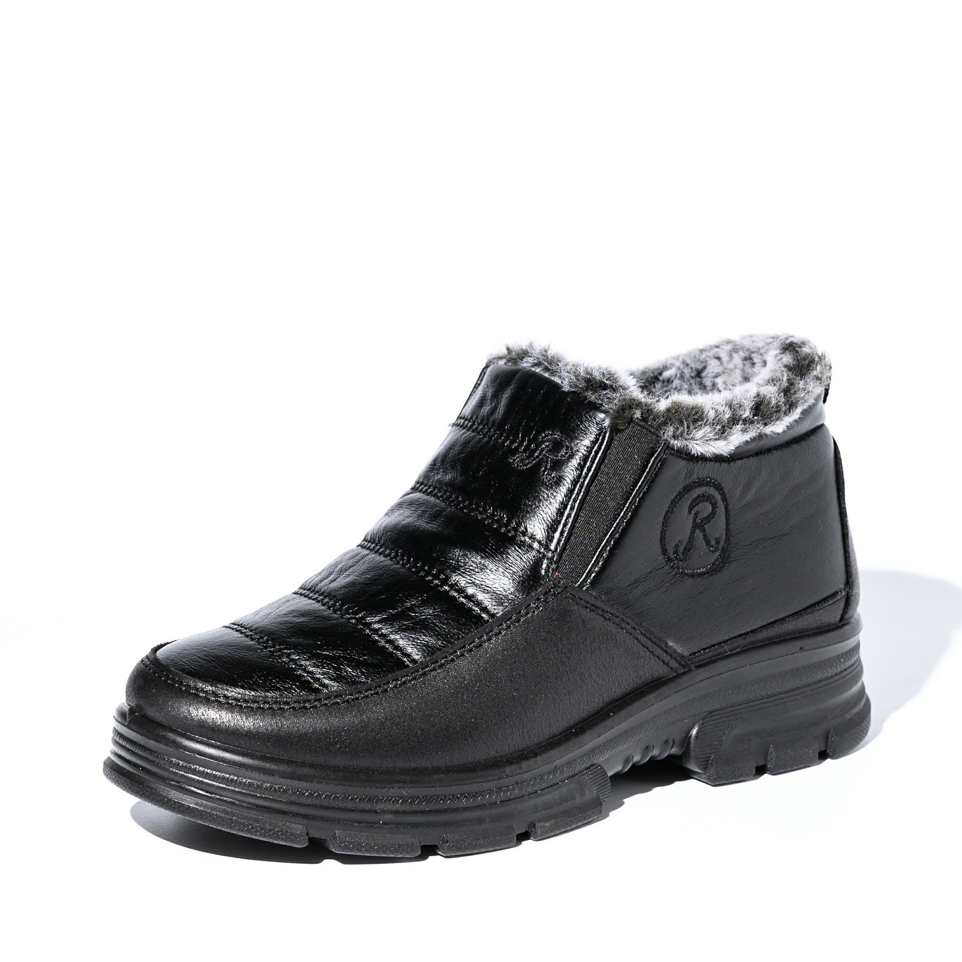 Women's Waterproof Cloth Large Size Snow Boots With Warm Lining