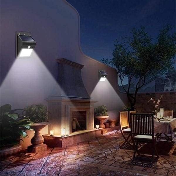 20/30LED 1/2/4PCS Solar Power PIR Motion Sensor Wall Light Outdoor Waterproof Lamp