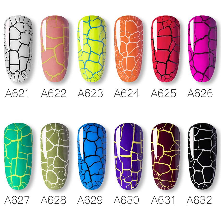 Crackle Gel Nail Polish Hybrid Lacquer Base Primer of Nail Gel Set