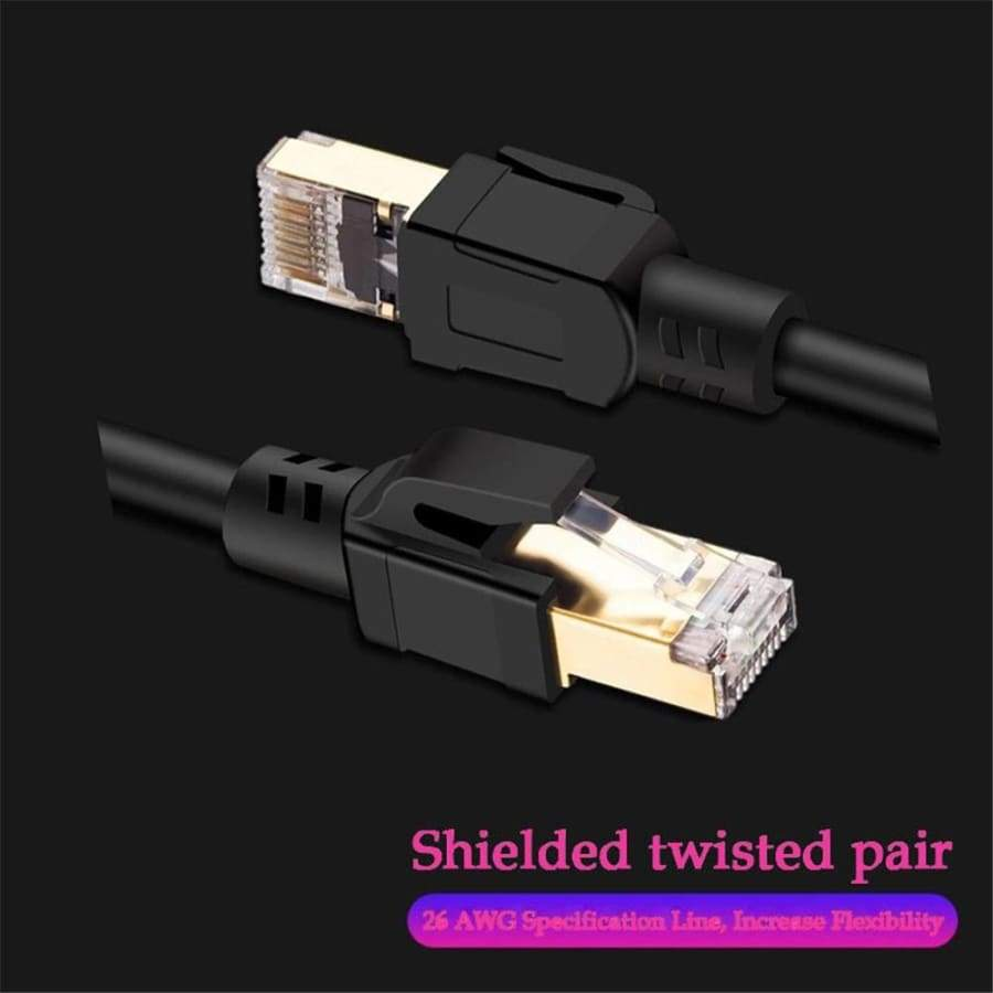 Cat8 Ethernet Cable RJ 45 Cable Network Lan Cable RJ45 Patch Cord 25/40Gbps 0.5M-5M for Laptop Router Ethernet Cable