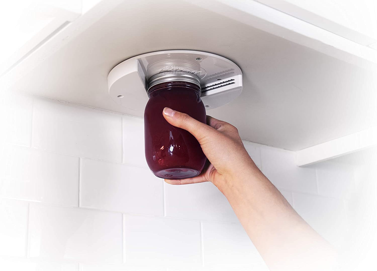 The Grip Jar Opener: The Original Under Cabinet Lid Opener, Since 1977, Opens Any Size/Type of Lid Effortlessly, Perfect for Arthritis, Weak Hands, and Seniors