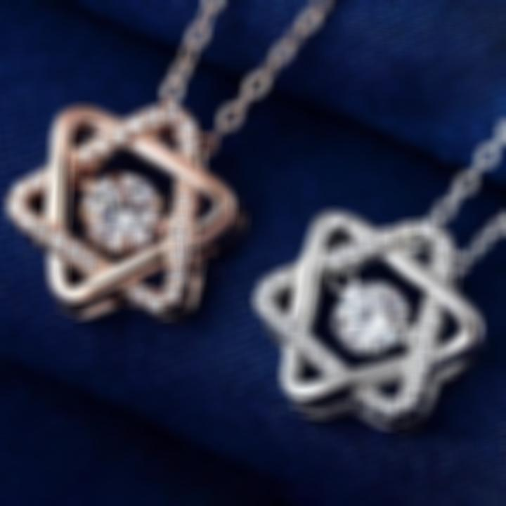Buy One Get One Free - 925 Silver Twinkling Six-pointed Star Necklace