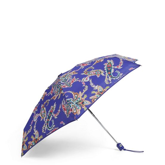 Mini Travel Umbrellain Paisley Swirls