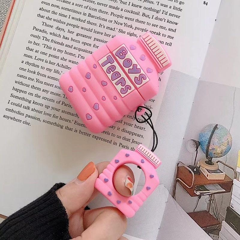 Cute Cartoon Silicone Earphone Protective Cover For Apple Airpods Charging Case(Not Include Airpods)