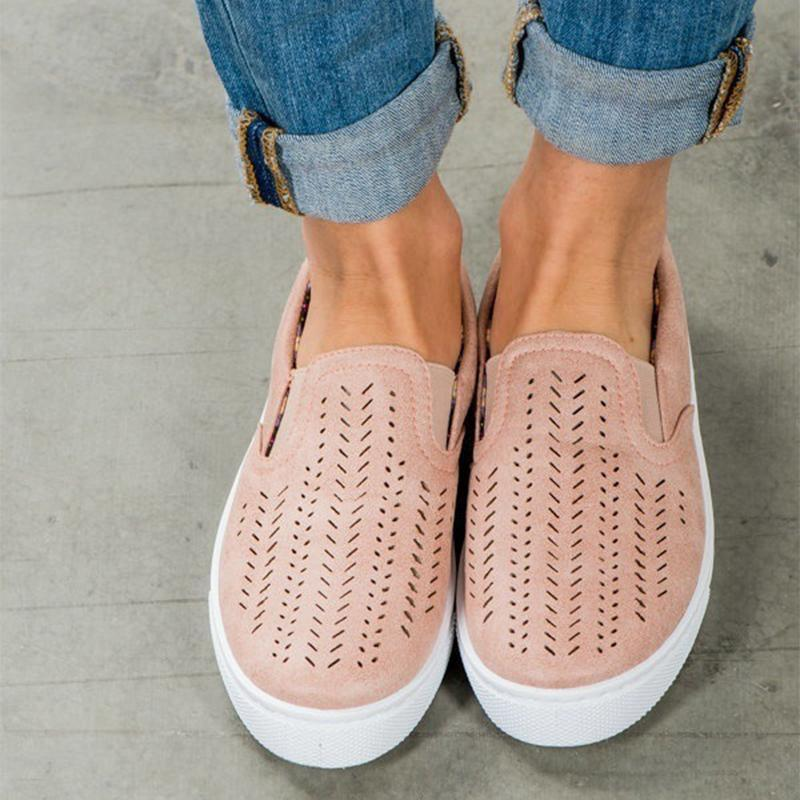Casual Soft Bottom Hollow Flat Loafers