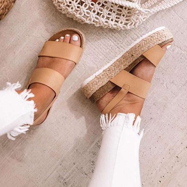 Faddishshoes Casual Espadrille Platform Sandals (Ship in 24 Hours)