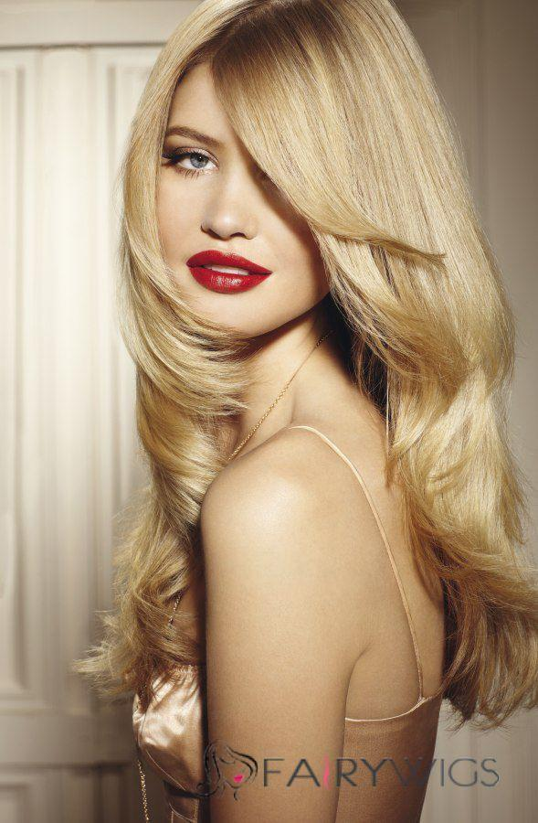 2020 Fashion Ombre Blonde Wigs 360 Lace Front Wig Blonde