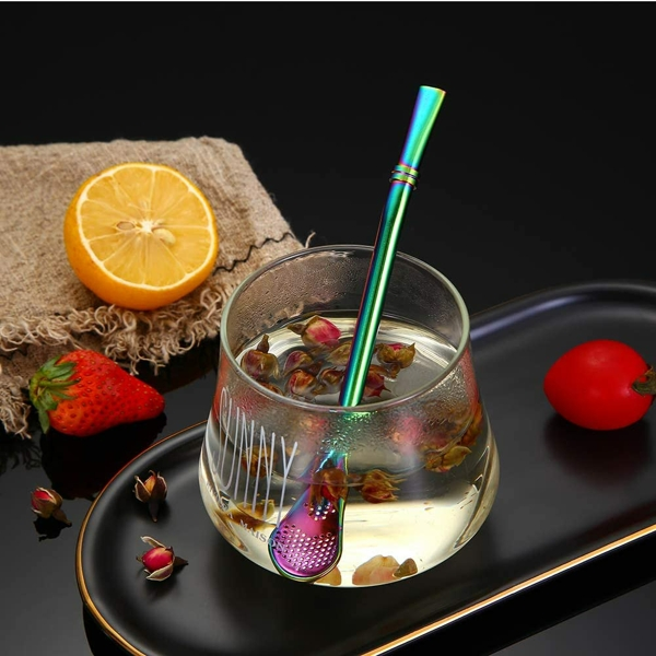 【2020NEW】Reusable Stainless Steel Drinking Spoon-Straw
