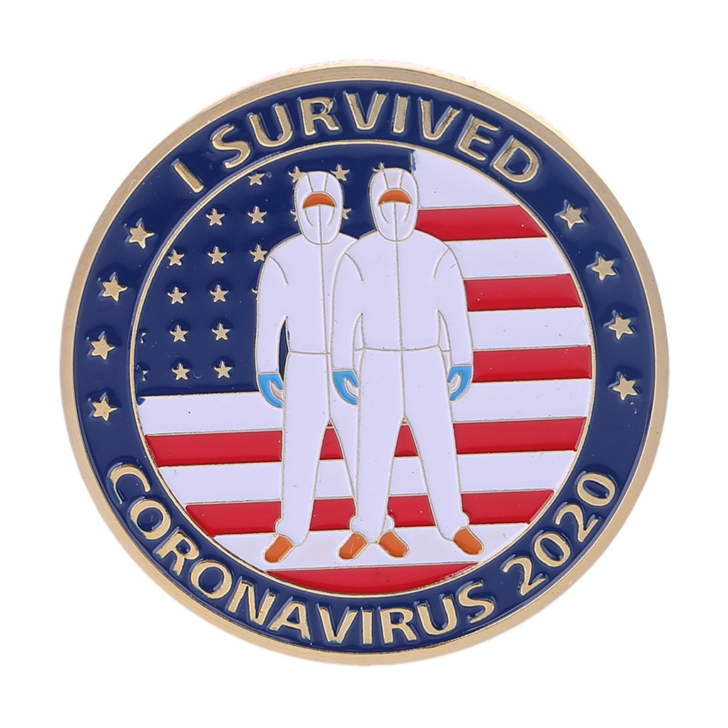 Fighting the Outbreak Commemorative Coin Souvenir Challenge Collectible Coins WQA