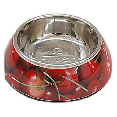 Cherry Pattern Food Bowl for Pets Dogs