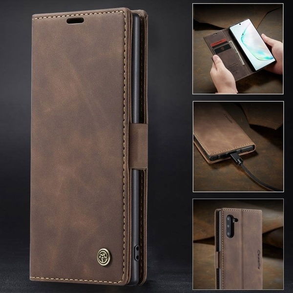 Luxury Retro Ultra-Thin Leather Flip Cover Wallet Phone Bag Case For Samsung Galaxy Note 10 Plus Cover Shockproof Vintage Case For  Samsung Galaxy Note 10 Note 10 Plus 5G