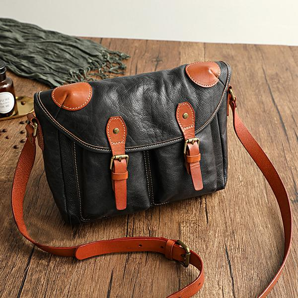 Faddishshoes Vegetable Tanned Leather Cowhide Handmade Bags