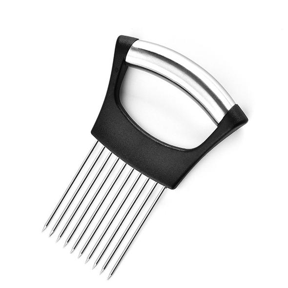 【Over $39 Free Shipping】Onion Holder Stainless Steel, Vegetable Potato Cutter Slicer, Meat Slicer, Cutting Kitchen Gadgets with 10 Prong