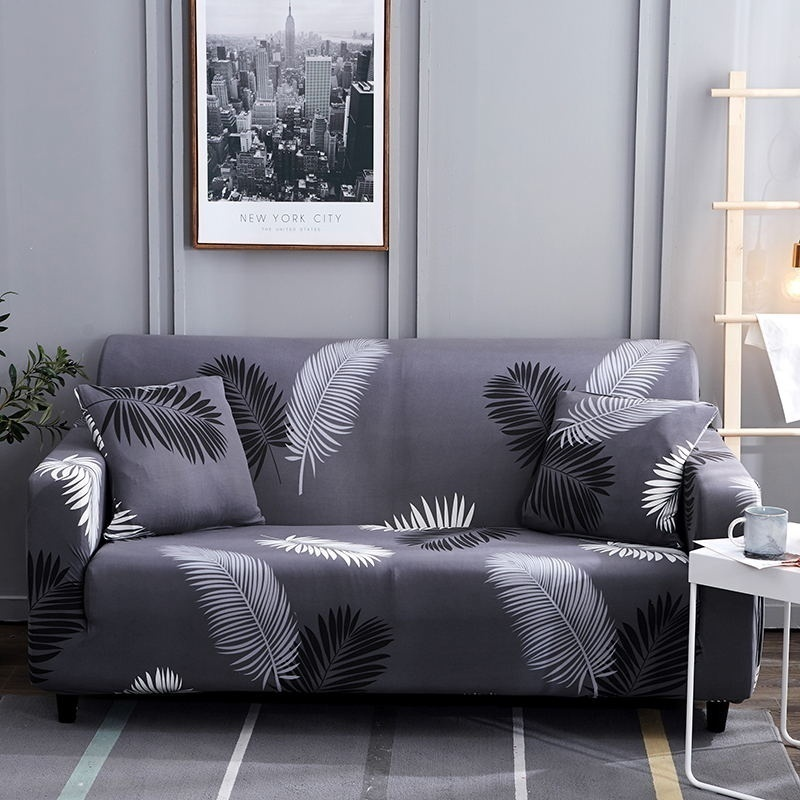 TOP QUALITY 18 Colors 1/2/3/4 Seaters Sofa Slipcover Stretch Protector Soft Couch Cover Anti-Slip Elastic Home Indoor Furniture Decor Sofas Stretch Sofa Slipcover Sofa Cover Furniture Protector Couch Soft