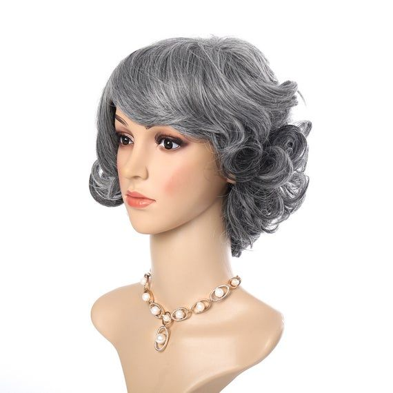2020 New Gray Hair Wigs For African American Women Wigs For Girls Medium Brown Lace Freya Wigs Long Wavy Wig White Bob Wig