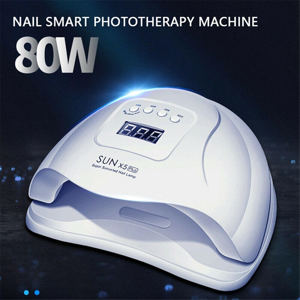 Newest ! 80W Nail Dryer LCD Display 36 LED UV Lights Nail Dryer Lamp For Curing Gel Auto Sensor Timer Nail Manicure