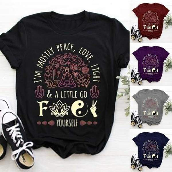 5 Color 2019 Summer New Women Fashion Short Sleeve Funny Letter Print Graphic Tee Soft Yoga Tops Women Cotton O-neck Tee Casual Brief Loose Floral Style Plus Size S-5XL