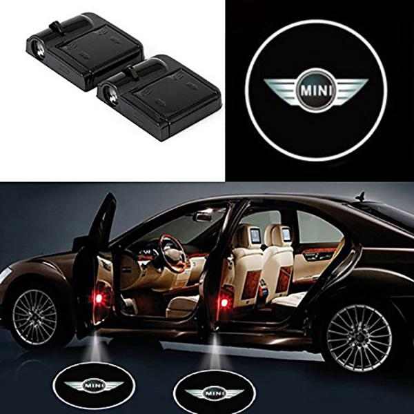 (Hot sale)-Universal Wireless  LED Car Logo Welcome Light (1pcs)