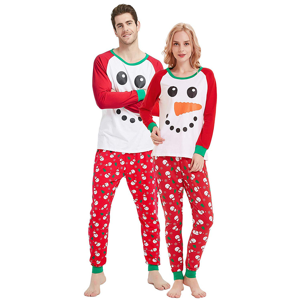 Christmas Snowman Family Matching Christmas Pajamas
