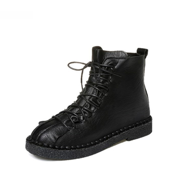 Autumn and winter new short boots women's British style Martin boots Women's flat shoes