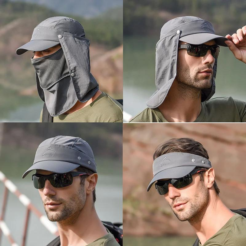 (Buy 1 Get 1 Free!)4 in 1 Multifunction Outdoor Sunscreen Collapsible Hiking Hat