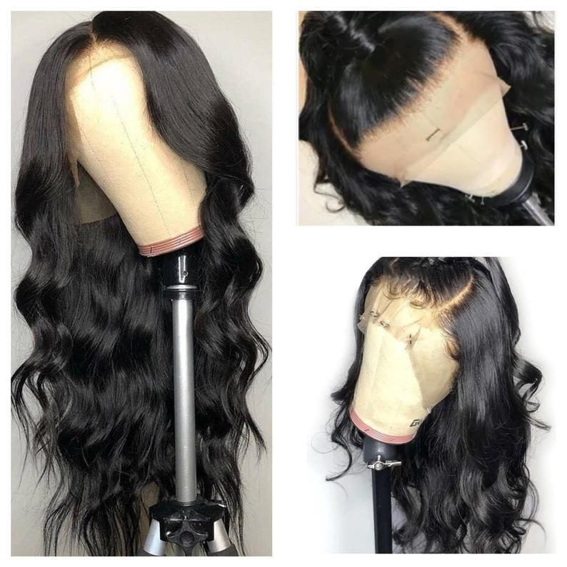 Human Wigs African American Hair Lace Front Lace Top Wigs Lace Hair Deep Side Part Closure Crown Wiglets Short Curly Frontal Wig Stranded Hair Pieces