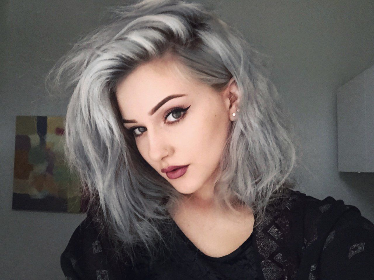 2020 New Gray Hair Wigs For African American Women Flat Top Wig Granny Hair Ombre Light Grey Wig Grey Blonde Hair Ombre Essence Wigs
