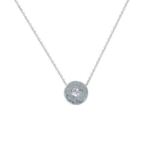Raw Edge Diamond Necklace
