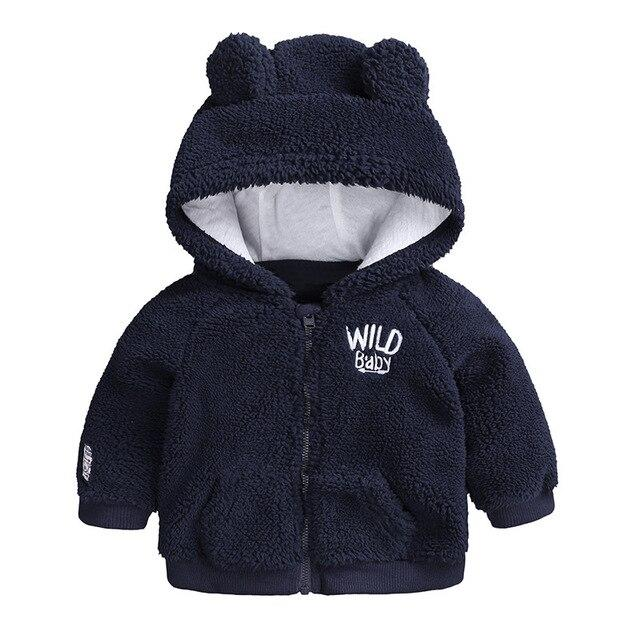 Newborn Baby Boys Jacket 2020 Autumn Winter Jacket For Baby Girl Hooded Warm Outerwear Coat For Baby Boys Infant Fleece Coat-WT03