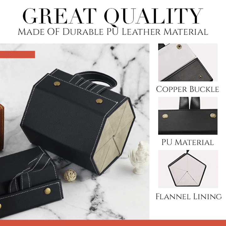 (Father's Day Promotions-50% OFF) Leather Multiple Glasses Storage Case- Buy 2 Free Shipping