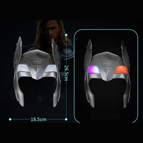 LED Glowing Superhero Mask for kid & adult Avengers Marvel Spiderman Ironman Captain America Hulk Batman Party Mask