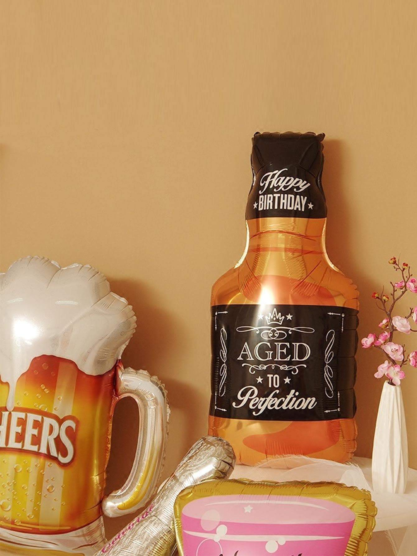 Beer Bottle & Cup Shaped Decorative Balloon 1pc