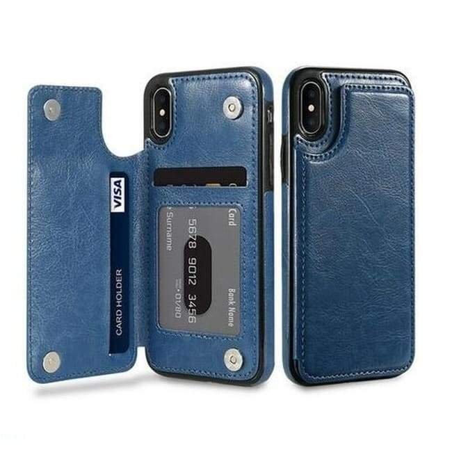 Slim Fit Premium Leather iPhone 7 Plus Wallet Casae Card Slots Shockproof Folio Flip Protective Defender Shell for iPhone 6/6s,iPhone6/6s Plus,iPhone 7/8,iPhone7/8 Plus,iPhone X,iPhoneXR,iPhone XS MAX