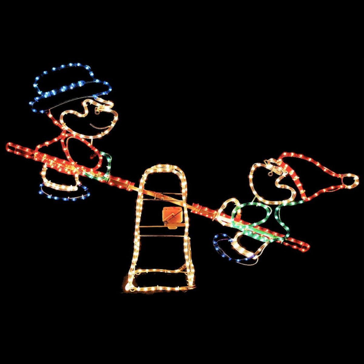 Elves on a SeeSaw Christmas Rope Light Display