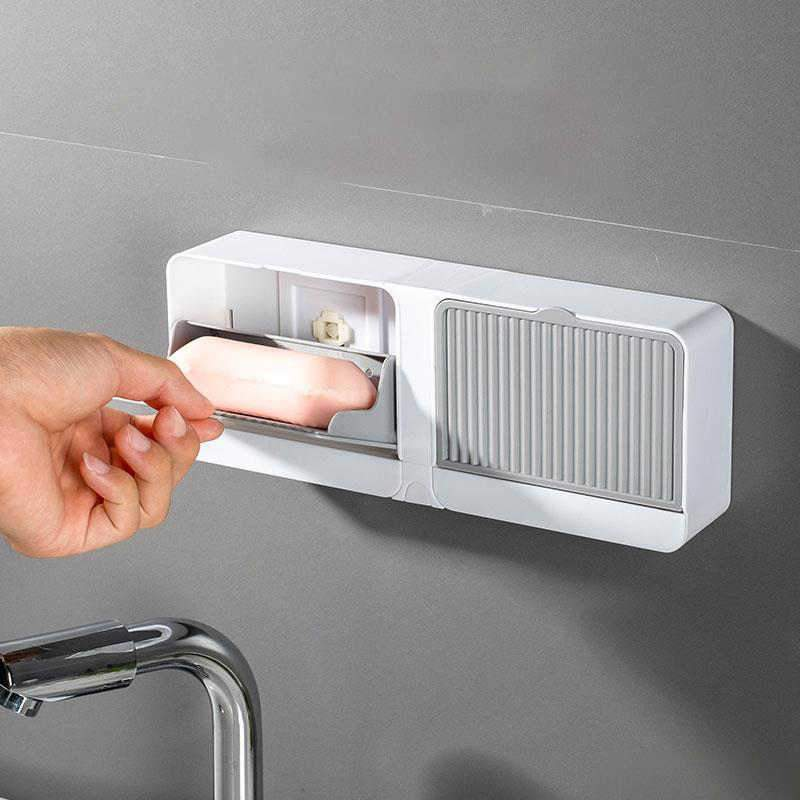 Best selling creative & elegant soap holder with hook and cover