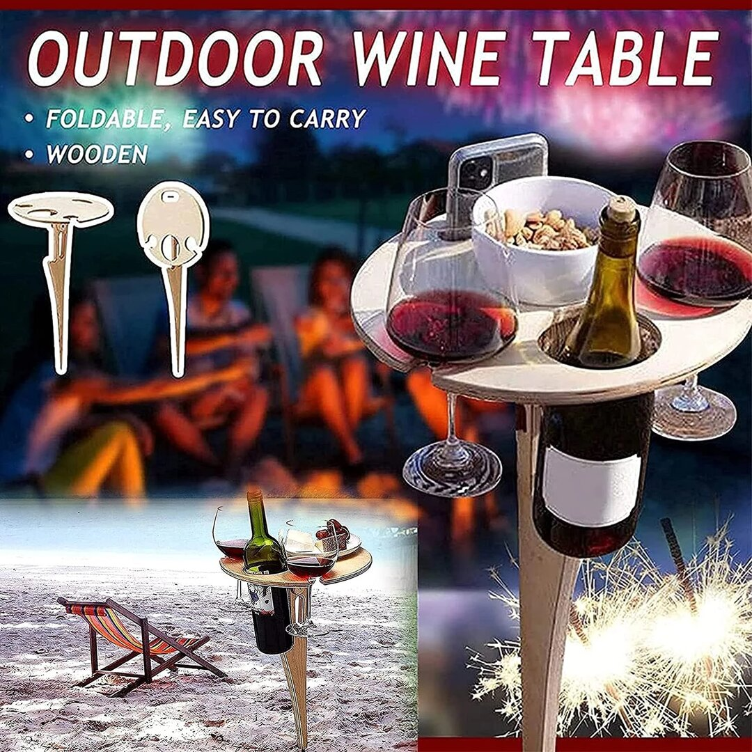 🔥Summer Limited 50% OFF -2021 Best Outdoor Wine Table