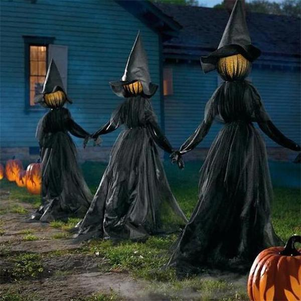🔥50% Off🔥 Lighted Halloween Witch Decoration Set(💖Buy 3 FREE SHIPPING💖)