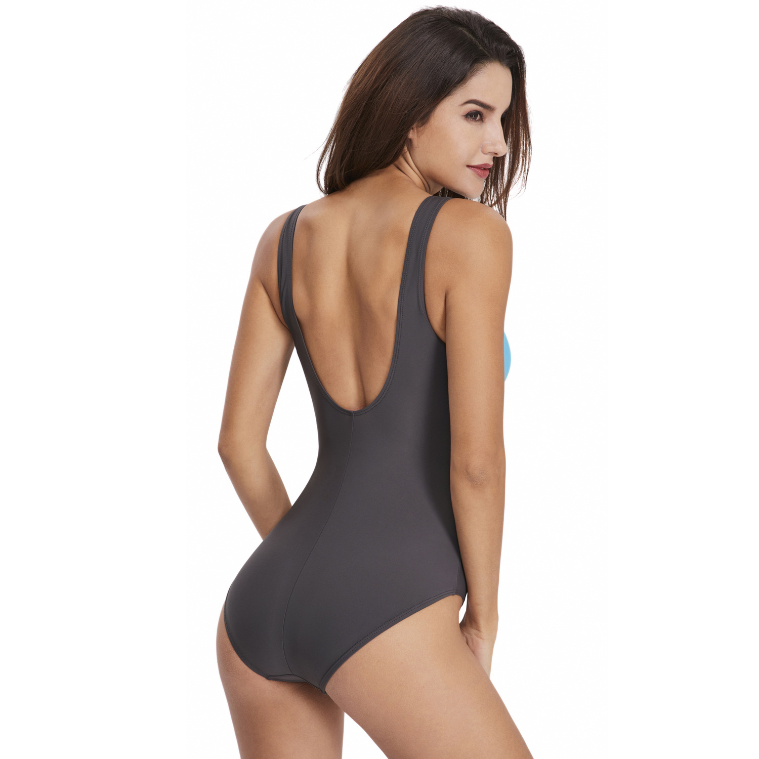 2020 New Swimwear Swimsuit sexy professional triangle sports color matching one-piece swimsuit women