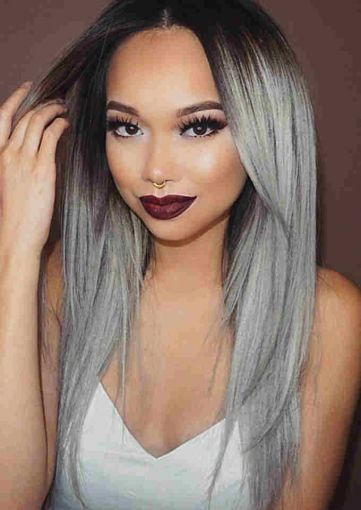 2020 New Gray Hair Wigs For African American Women Princess Leia Wig Natural Grey Hair Styles Descendants 3 Wigs Maui Wig Wholesale Human Hair Wigs