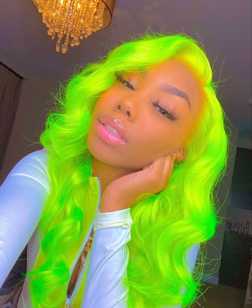 Lace Front Wigs Virgin Hair For Black Women Ice Blue Lace Front Wig Hippie Wig Bakugou Wig Honey Blonde Ombre Wig Free Shipping