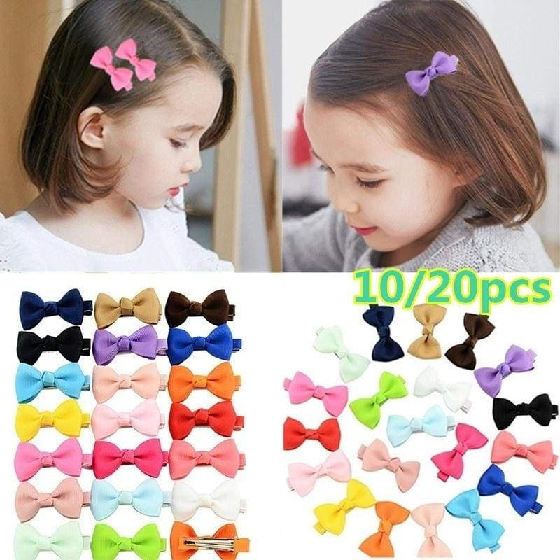 10/20 Pcs Hair Bows Band Boutique Alligator Clip Grosgrain Ribbon Girl Baby Kids