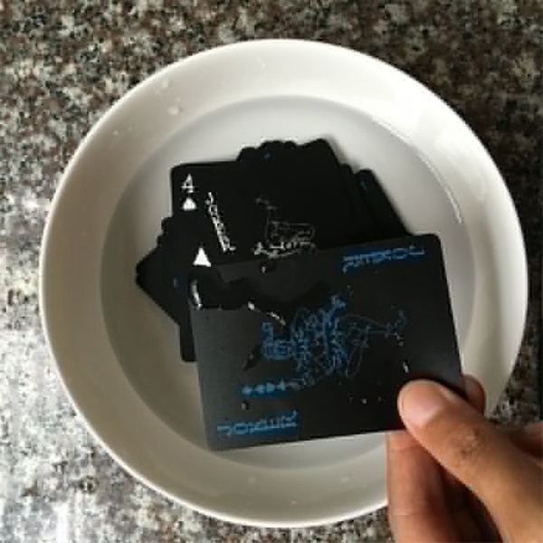 Waterproof Plastic Poker Black Playing Cards Collection Cards Deck Cool Bridge Card Games Halloween Playing Cards
