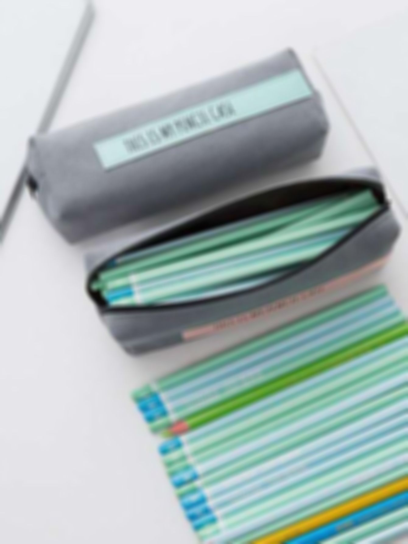 Simple Letter Print Pencil Bag 1pc