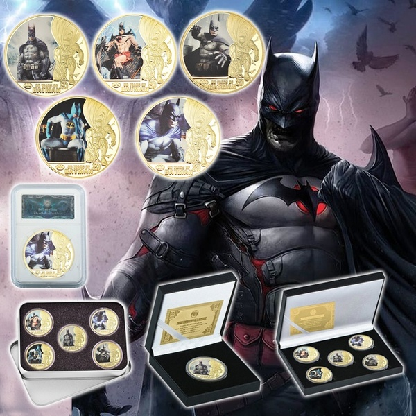 WR hot sale Batman Bruce Wayne Gold Plated Collection coins Gifts for Man