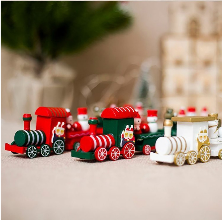 Christmas train  toys gift for kids for home ornament navidad new year