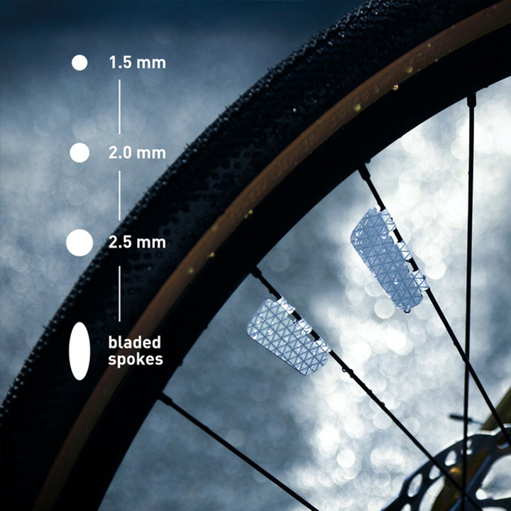 Marked™  Bicycle Wheel Hub Reflection Accessories Set(4 pcs)