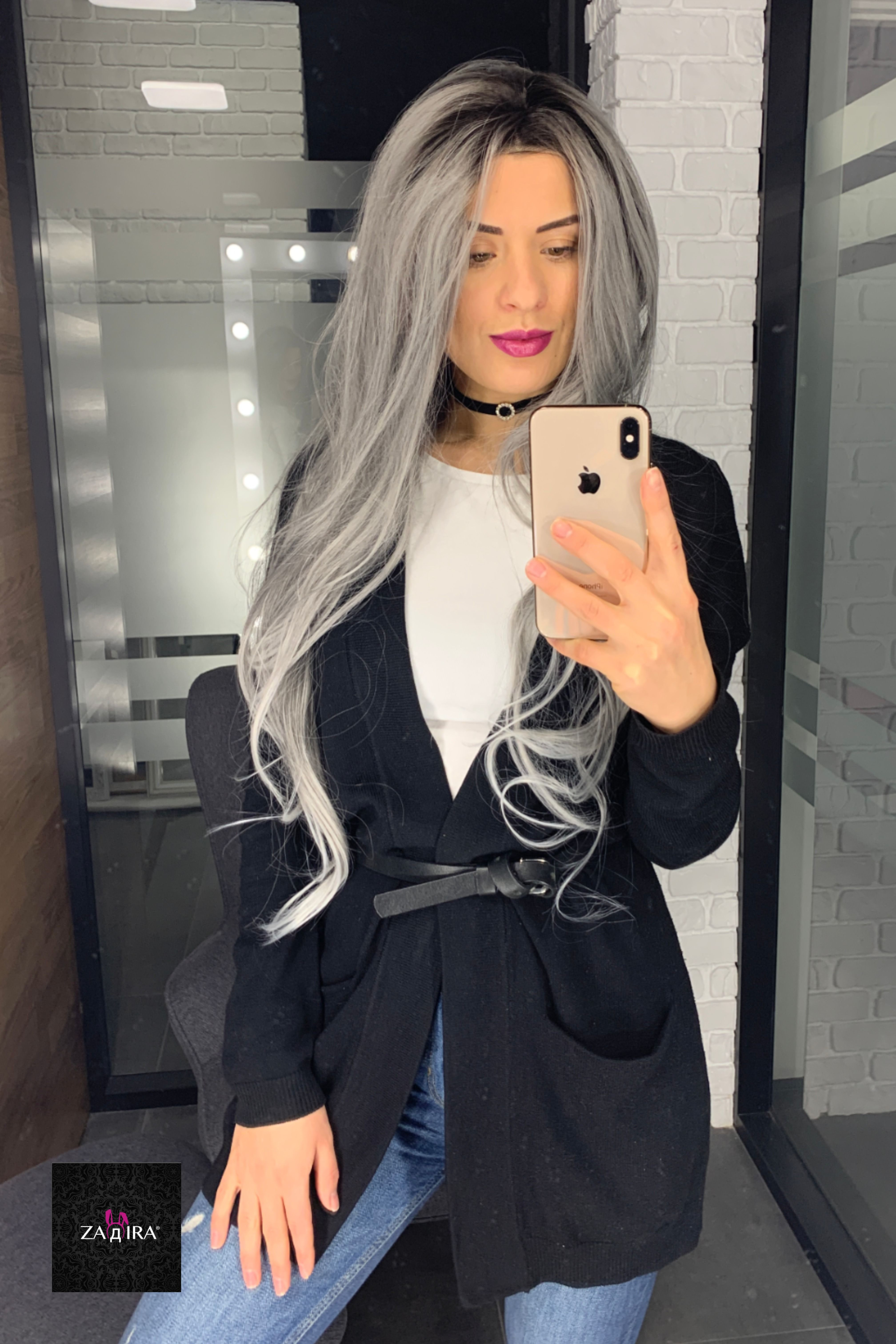 2020 New Gray Hair Wigs For African American Women Synthetic Wigs That Look Real Hair Vig Price Grey Hair At 20 Female Bachelorette Party Wigs Zero Two Wig