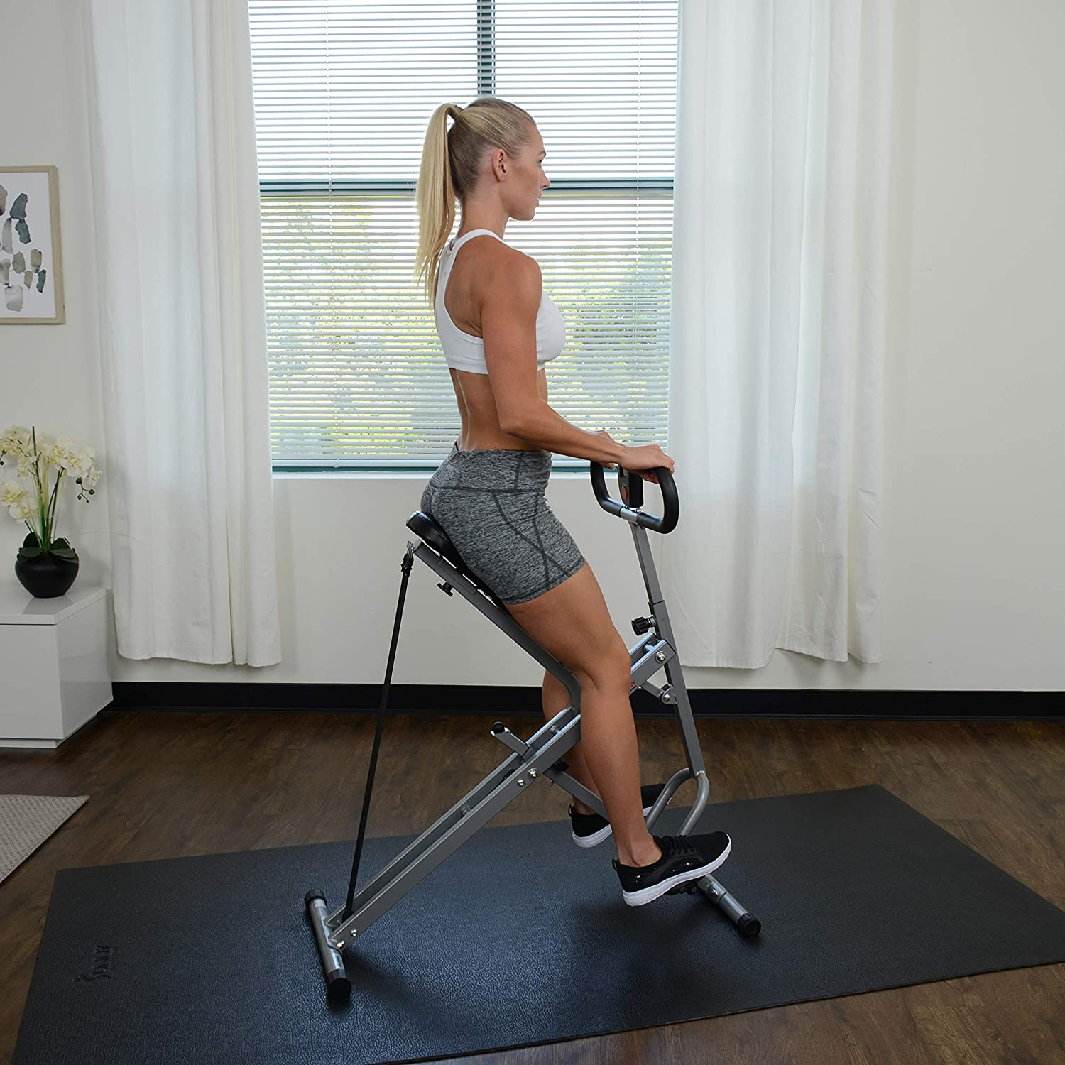 SPORTS Squat Assist Row-N-Ride Trainer for Squat Exercise and Glutes Workout