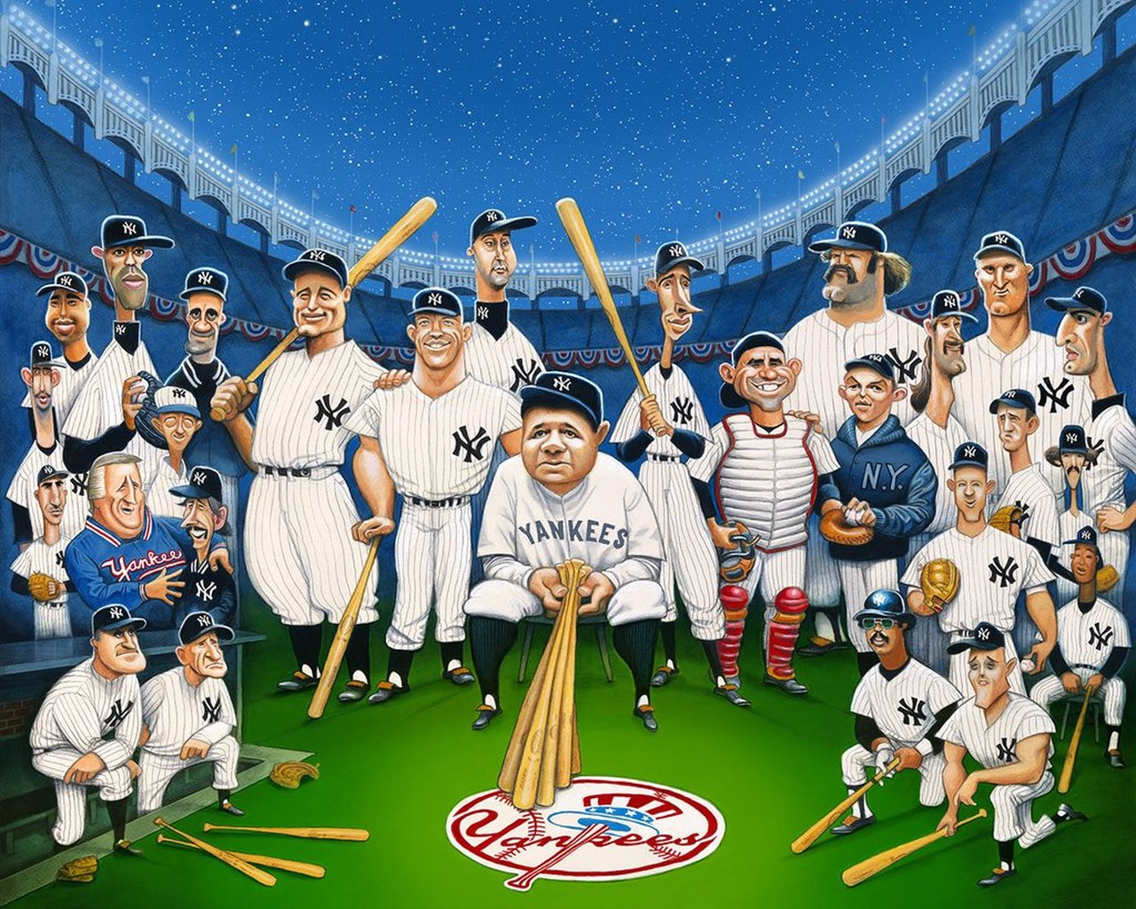 The Legends of the Yankees 1000 Piece Jigsaw Puzzle