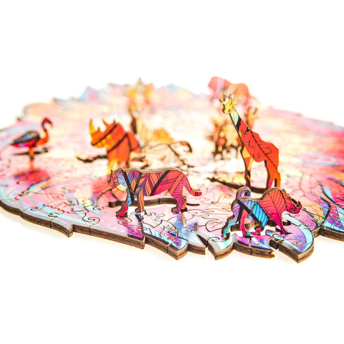 Wooden Jigsaw Puzzle Mysterious Lion-50% off